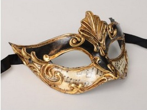 Masked ball mask black