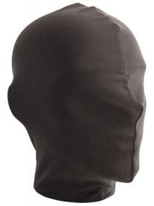 Lycra Bondage Full Enclosed Hood in Black.