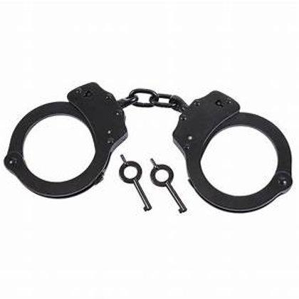 Black & Chrome  Steel Handcuffs