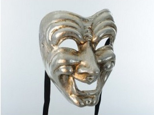 Comedy Mask Silver