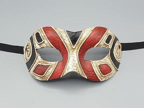 Venetian Art Deco Mask in Black & Red