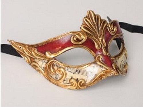 Masked ball mask red