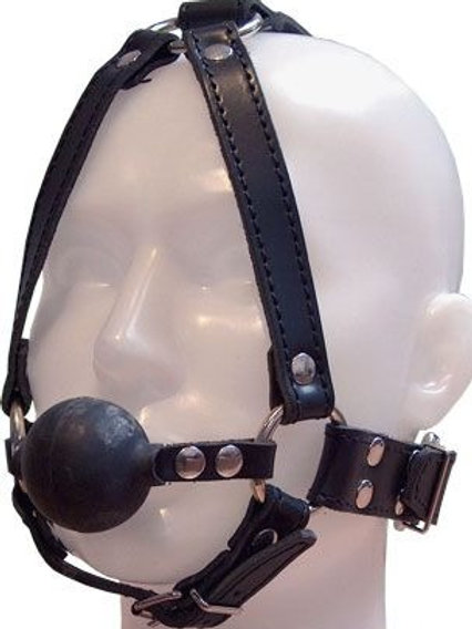 Leather Harness with Ball Gag.