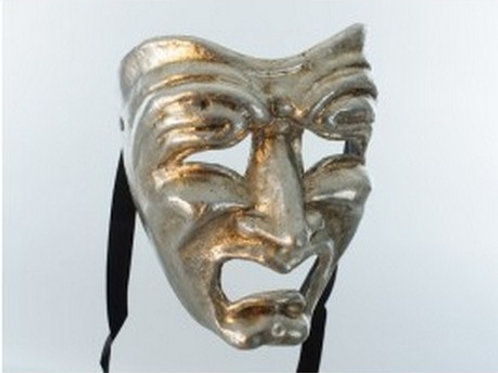 Tragedy Mask Silver