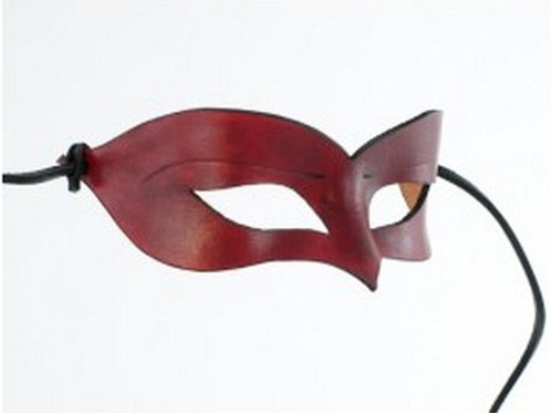 Leather Mask Red