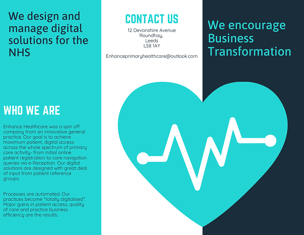 Turquoise Heart Vector Medical Brochure.