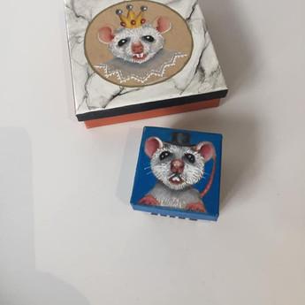 Boîtes souris marbre et boîte à dents de lait