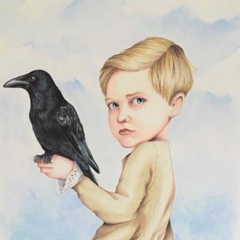 Enfant au corbeau