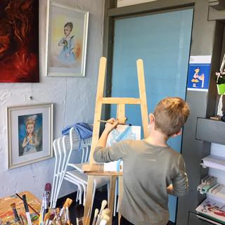 Atelier peinture enfant