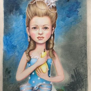Jeune fille à la poire