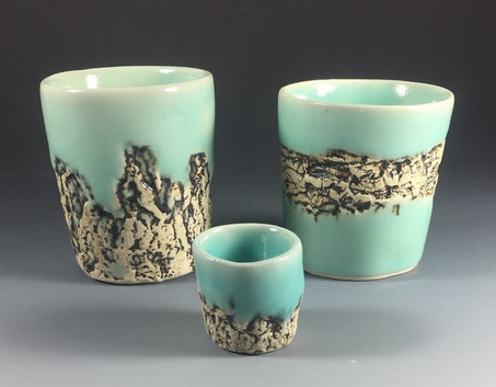 Celadon Bark Cups