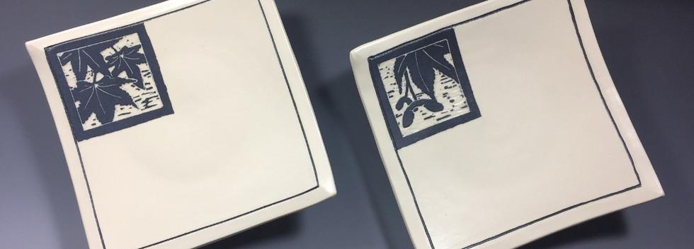 Japanese Maple Woodcut Plates