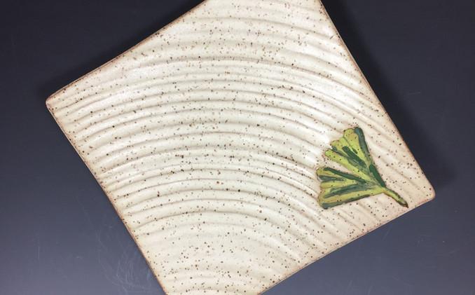 Ginkgo Ripple Plate