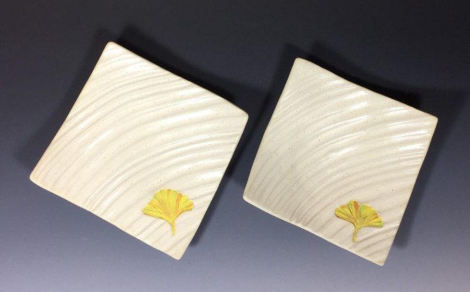 Ginkgo Ripple Plates