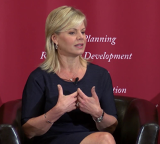 Gretchen Carlson speaking at the HOLT Lectures to talk about the importance of female empowerment.