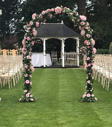 Floral Arch - Pink Petal - Hire Hampshire