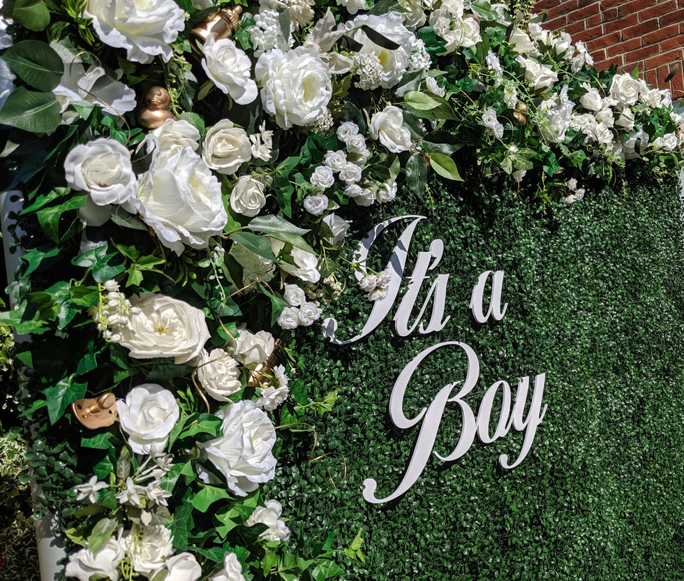 Baby Shower Flower Wall - Its a Boy