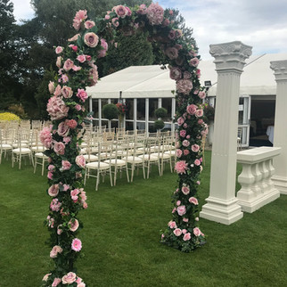 Floral Arch - Pink Petal - Hire Hampshir