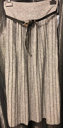 Plissee-Rock, kuschelweich-grau
