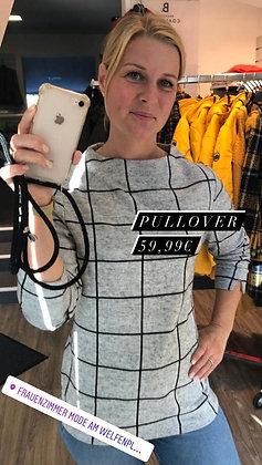 Pullover grau, großkariert