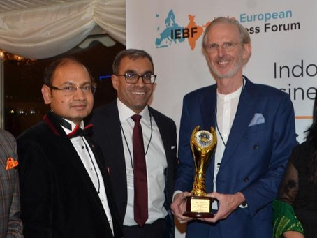 Accloud's Founder & CEO, Ross James Recognised by the Indo-european Business Forum (IEBF)