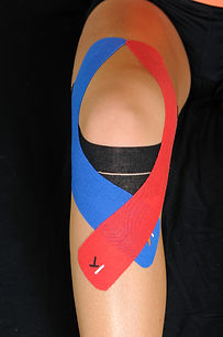 Knee Taped Up