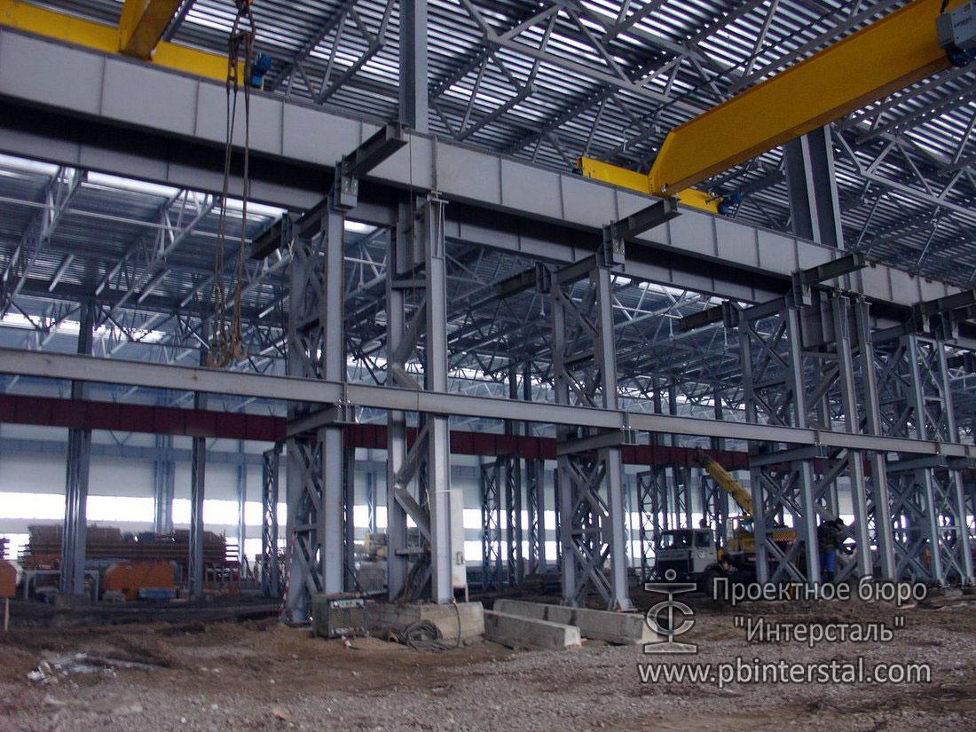 Реконструкция здания. Мостовой кран