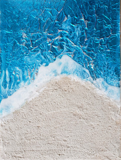 3 panel sparkling ocean scene