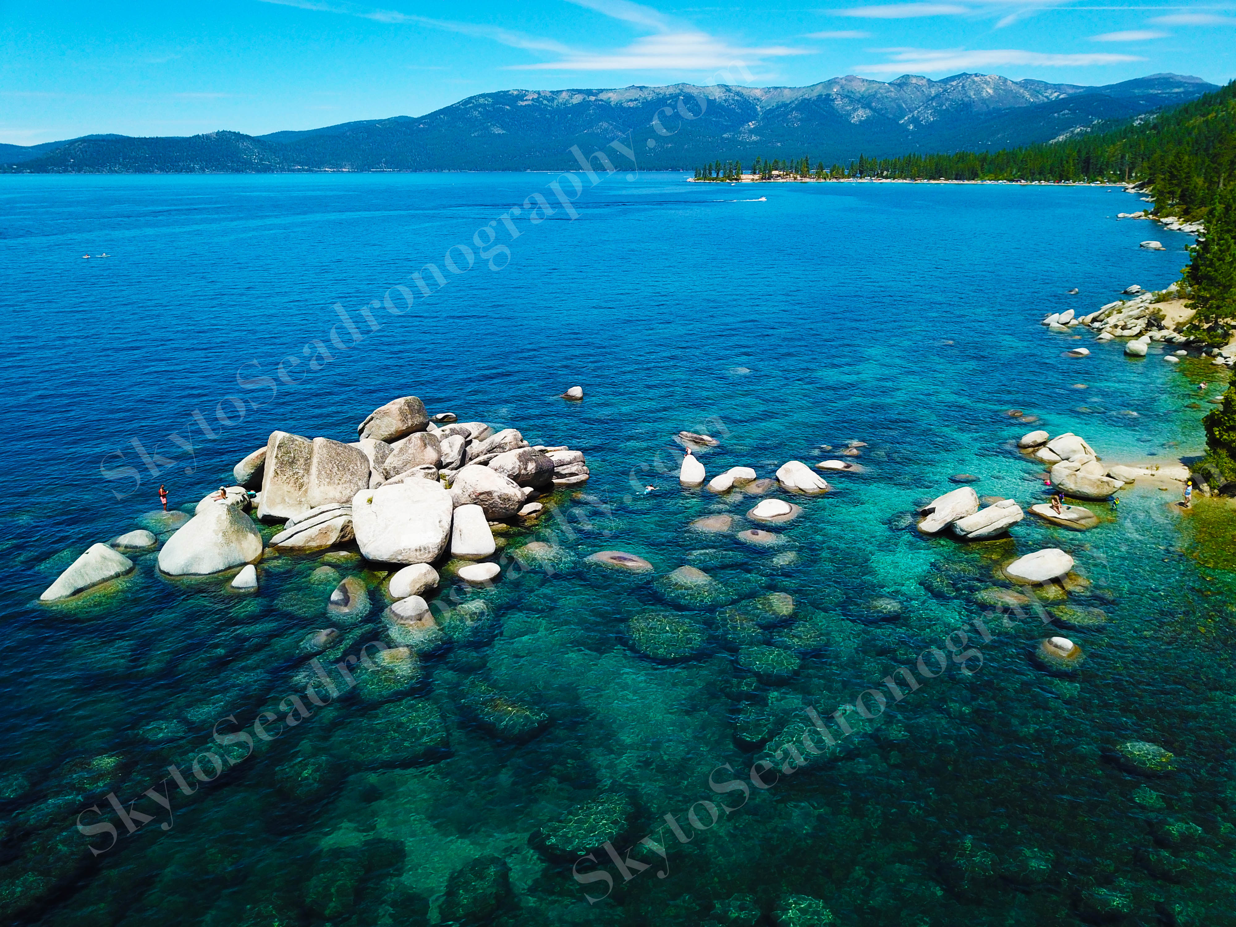 Wide angle Lake Tahoe