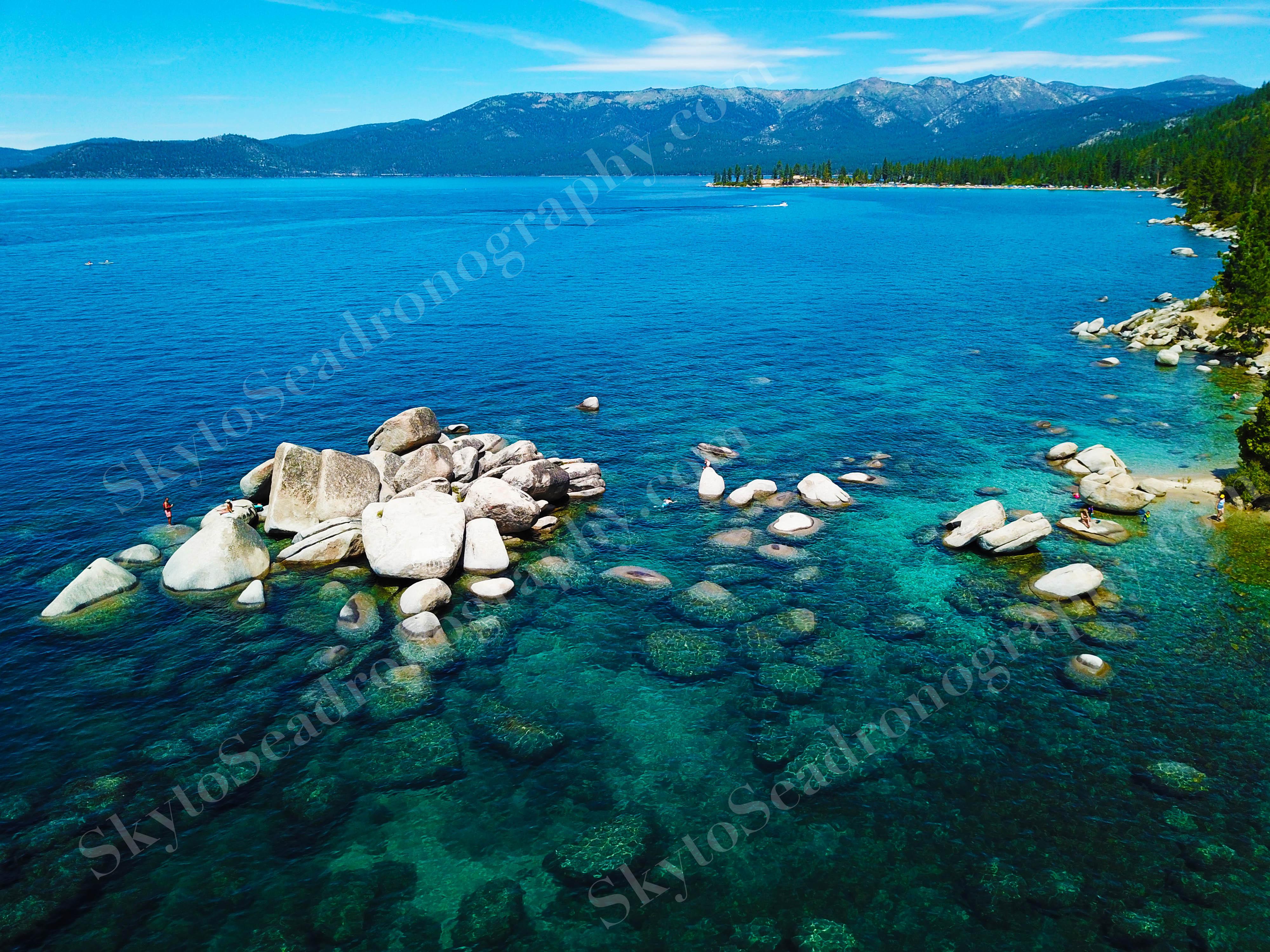 Wide angle Lake Tahoe