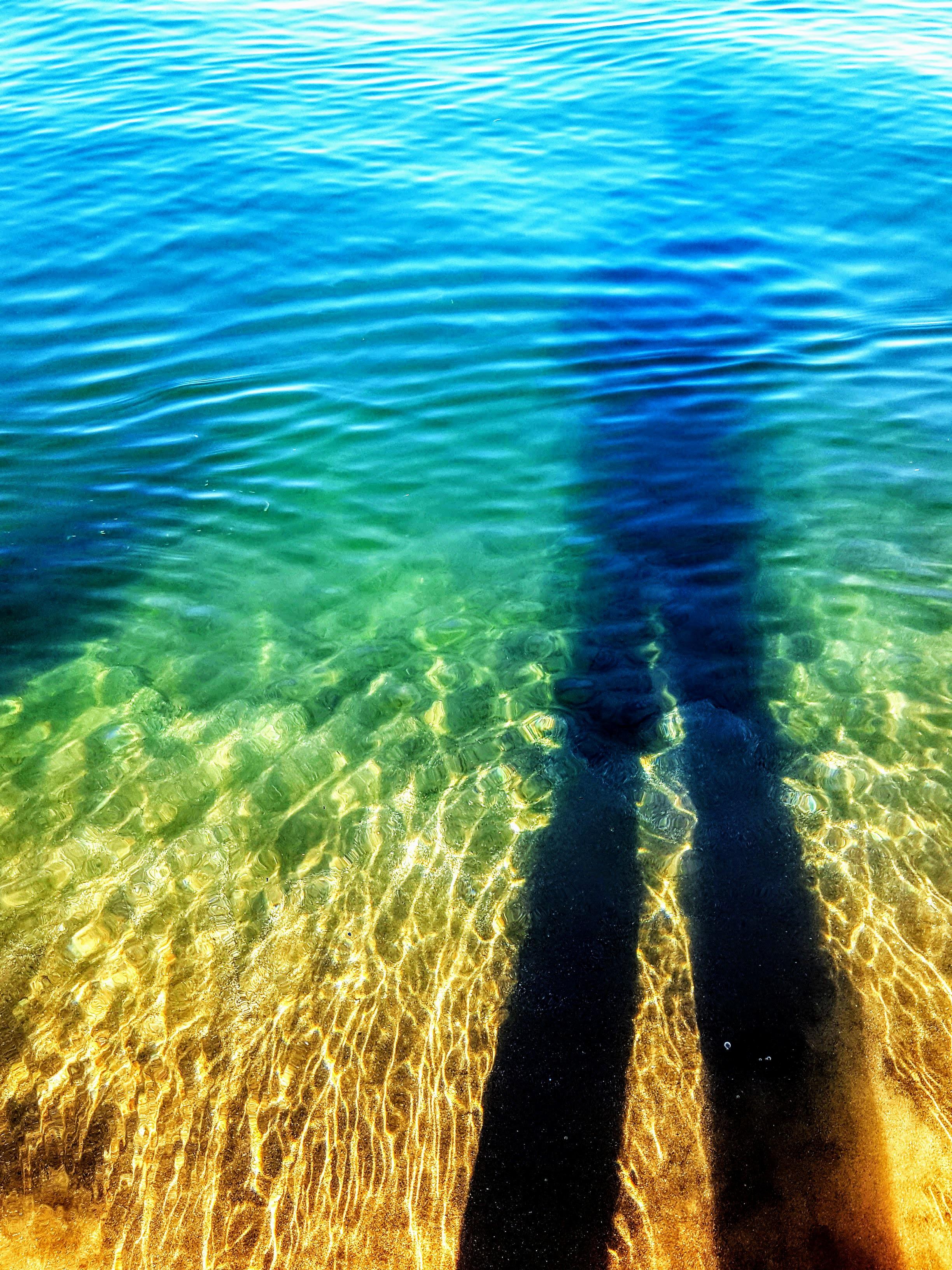 Selfie in water