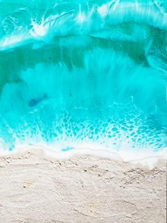 Aqua beach 12 x 16