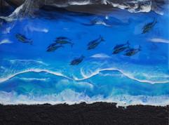 Black Sand Surf 18 x 24
