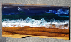 Ocean on Bocote wood