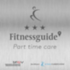 Plakette Fitness Guide 3 Sterne Part tim