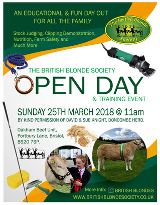 British Blonde Open Day & Training Event