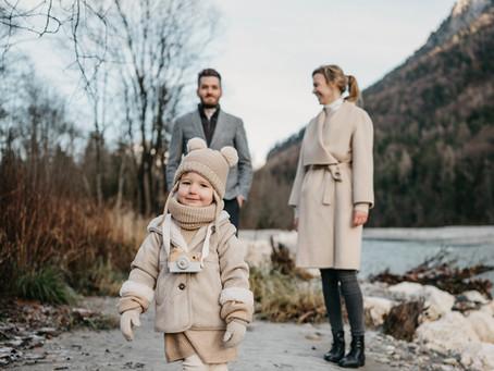 Familienausflug: Wintershooting in den Bergen