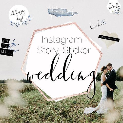 Instagram Story-Sticker WEDDING