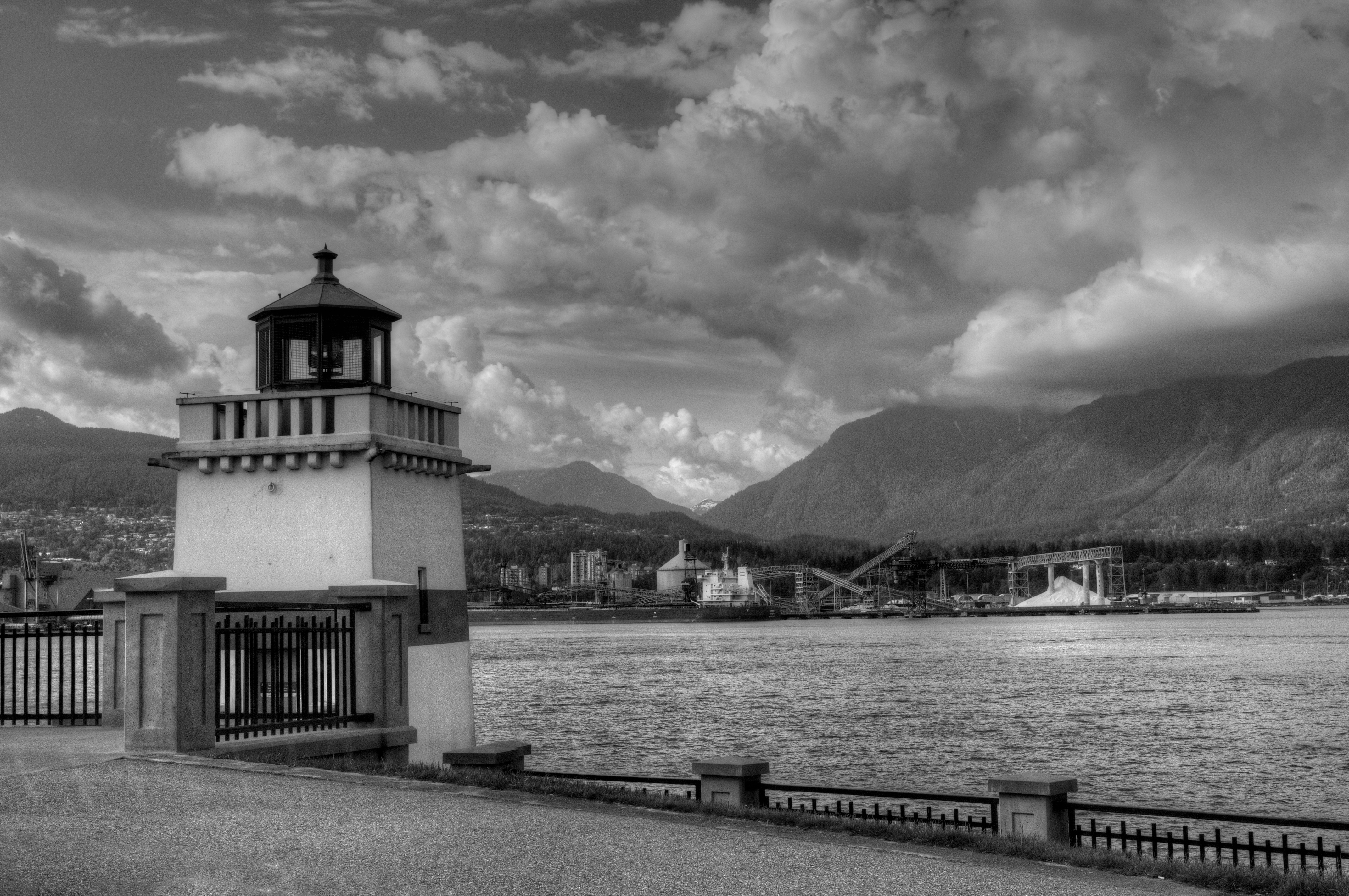 Vancouver  Harbour in B&W