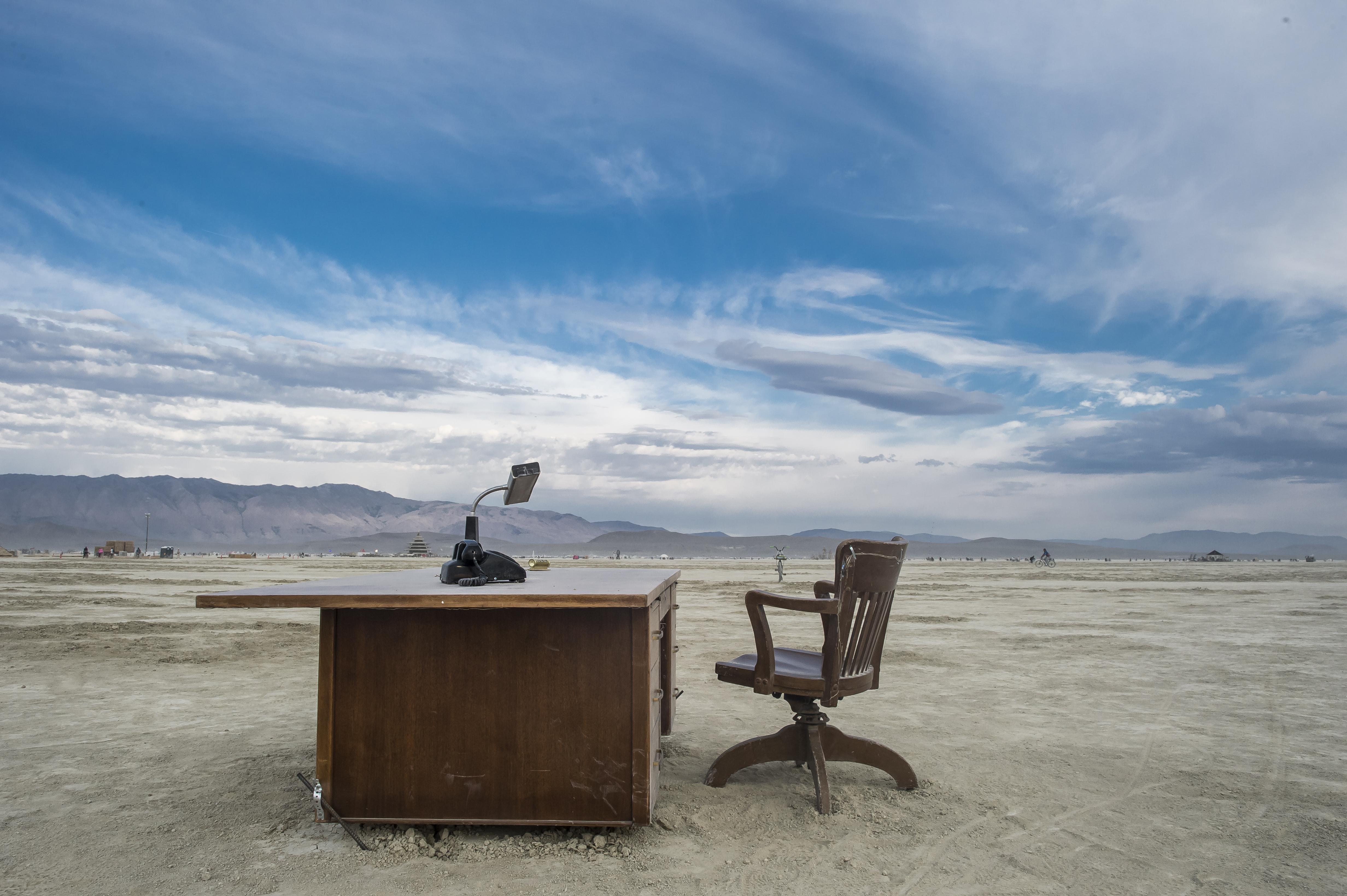 A Desk in the Desert