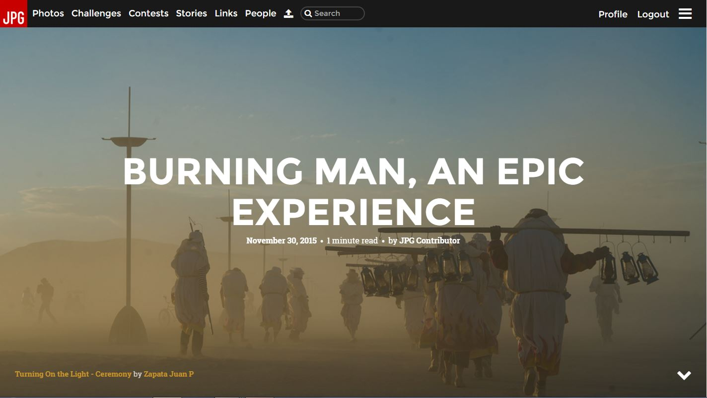 Story of the Week - Burning Man, An Epic Experience 2