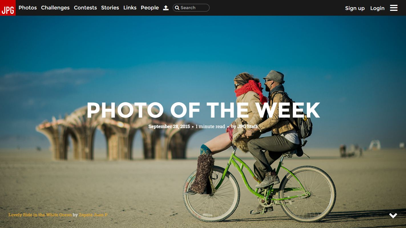 Photo of the Week - Lovely Ride in the White Ocean