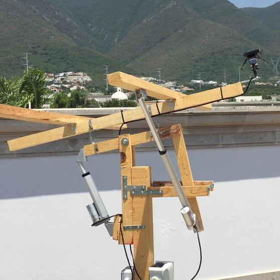 Instalación de prototipo de Seguidor Solar