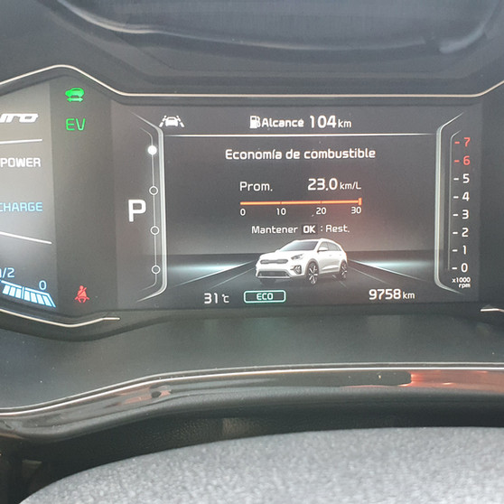 23.0 Km/litro, primeros 10,000 Kms