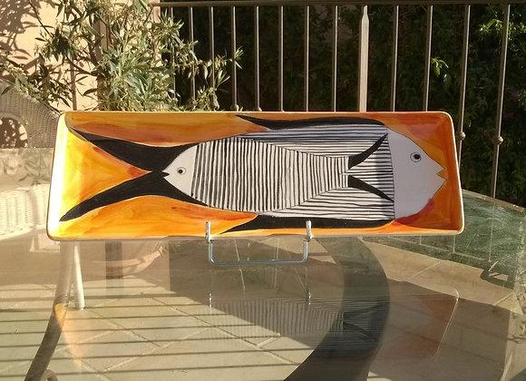 grand plat à cake de Cécile Colombo  (37x12 cm)