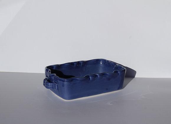 petit plat à four en céramique artisanale (22 x 15 H.6 cm)