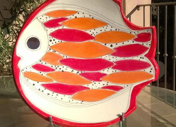 plat poisson  de Cécile Colombo  (diamètre 30 cm)