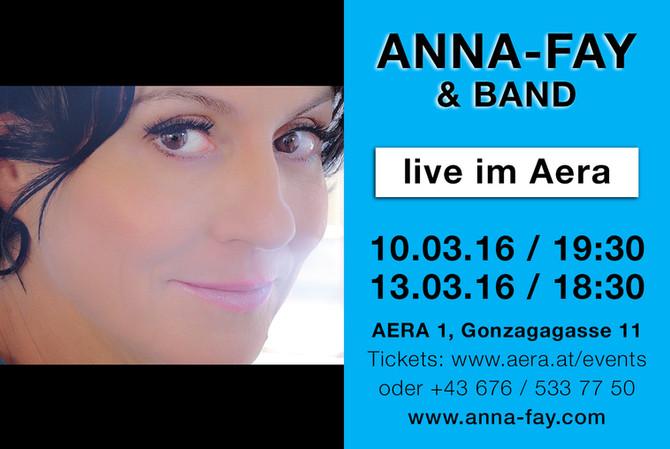 ANNA-FAY bald Live in Wien!