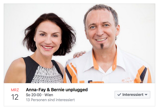 Anna-Fay & Bernie unplugged am 12.März 2017