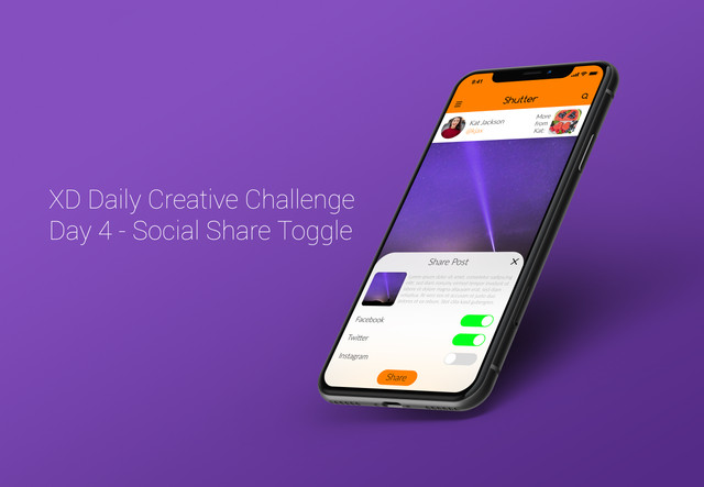 Day 4 - Social Share Toggle